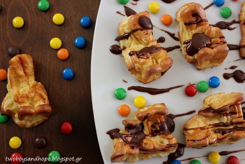 Παιχνιδιάρικες τηγανίτες… στο φούρνο..