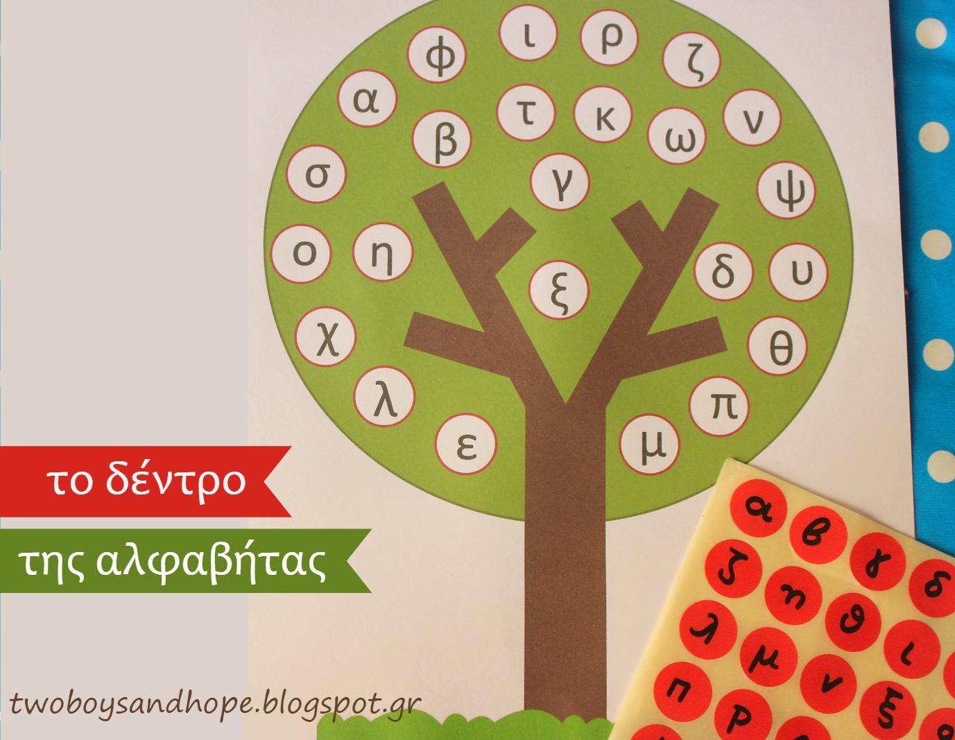 Το δέντρο της αλφαβήτας…