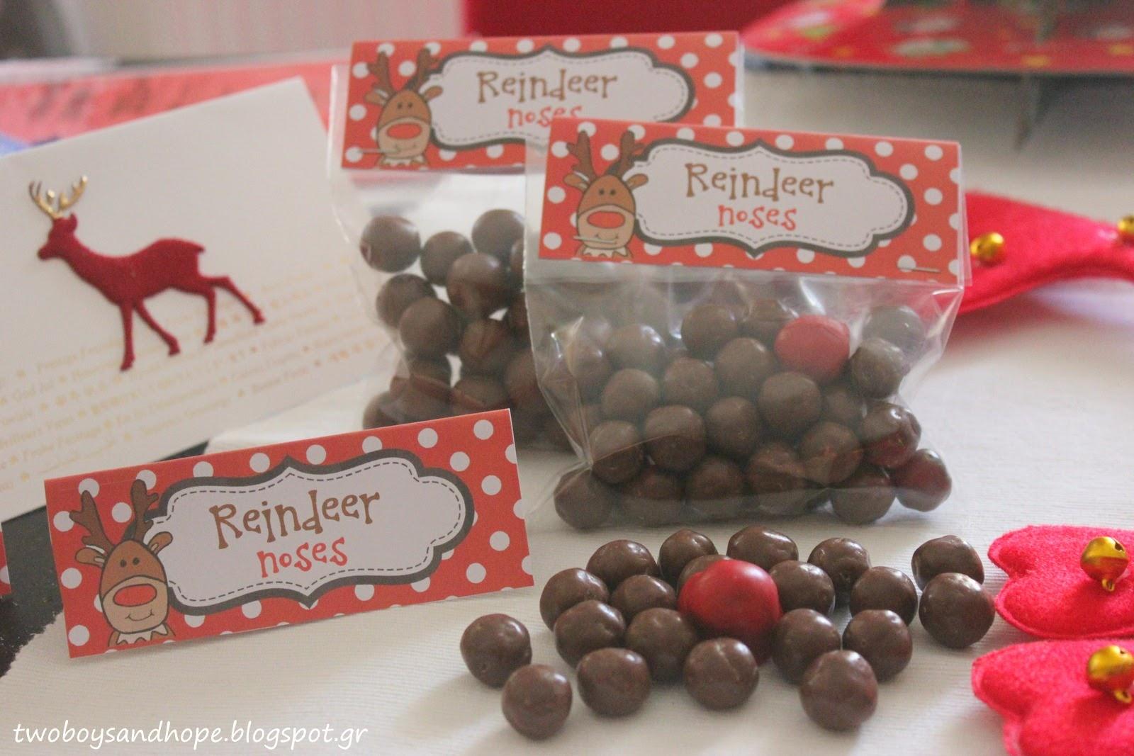 Σοκολατένιες ταρανδο-μυτούλες !!!