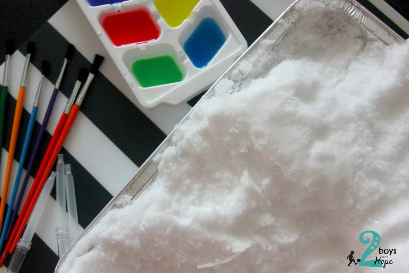 Ζωγραφίζουμε… στο χιόνι!!