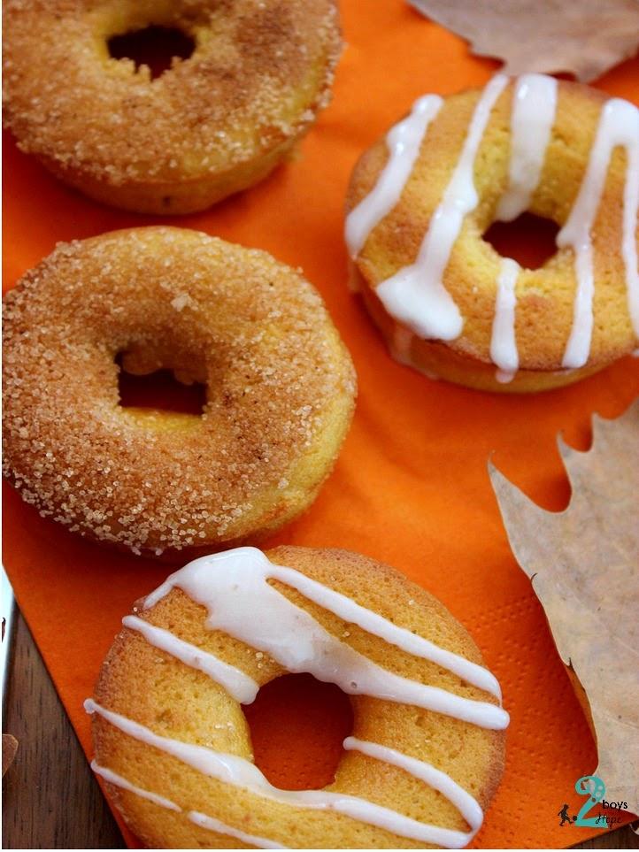 Donuts Κολοκύθας φουρνιστά
