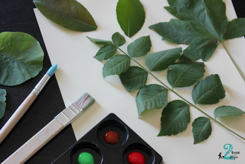 Ζωγραφίζουμε με φύλλα