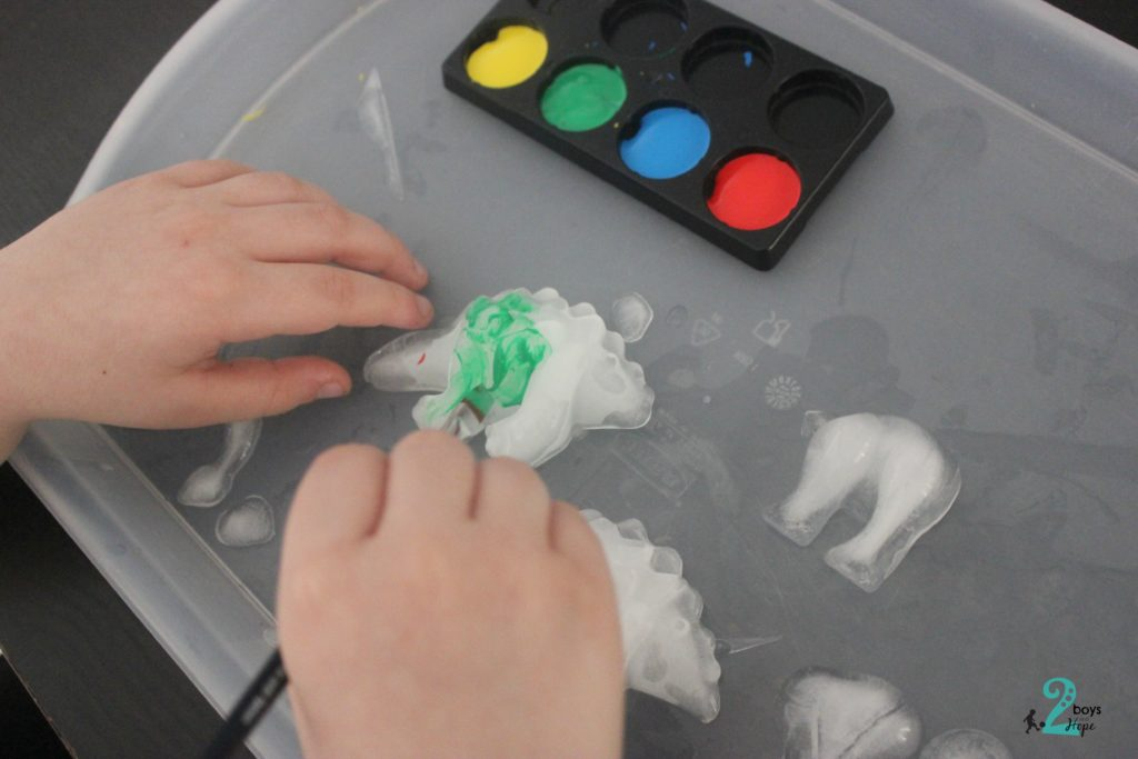 ζωγραφική σε πάγο