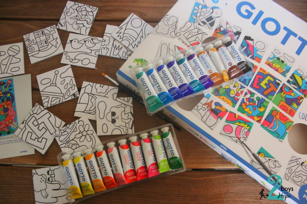 Coloring with Giotto Art Lab Color & Puzzle